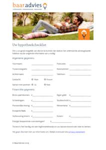 Hypotheekchecklist