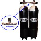 2x12 L 232 bar flasker m/isol kran, inkl. stålband - Mares (diam 171 mm)