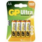 AA 1,5V Ultra Alkaline 4 pk batteri 15A-2U4 / LR6 GP