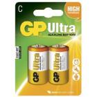 C-Cell 1,5V Ultra Alkaline 2 pk batteri 14AU-NL2 / LR14 GP