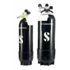 12L 232 bar komplett flaske (kort) m/kran & fot (Ø203 mm) ecs Scubapro