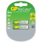 AAA 1,2V 850 mAh Oppladbart GP Recyko (2 pk)