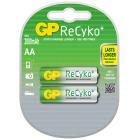 AA 1,2V 2100 mAh Oppladbart GP Recyko (2 pk)