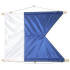 Dykkerflagg Nr.1, lite m/flaggholder B60 X H40 CM Signalflagg A