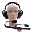 Amron Headset m/microfon og dual bananpl