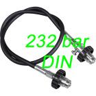 Dekantering O2 slange DIN 232 bar OXYGEN CLEAN u/manometer (+/- 80 cm)