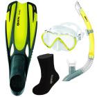 ABC Snorklepakke Maske - Snorkel - Sokker - Føtter