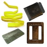Blybelte med 14 kg bly - inkl belte, spenne og stoppere ( plater &  ubehandlet lodd )