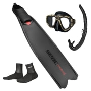 ABC Fridykkerpakke (Voksen) Maske - Snorkel - Føtter - sokker, SEAC