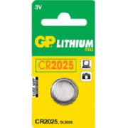 CR2025 3V C1 Knappcellbatteri GP Ø=20,0x2,5 mm