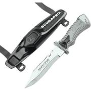 K6 Dykkerkniv sort m/linekutter, sort Scubapro