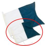 Dykkeflagg 20 x 30 cm ALFA