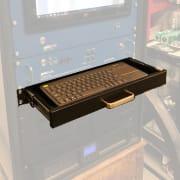 Rackmount Keyboard Drawer With Wireless Keyboard (1U) ; AxSub