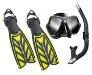 ABC pakke - Maske, snorkel, svømmeføtter & hansker
