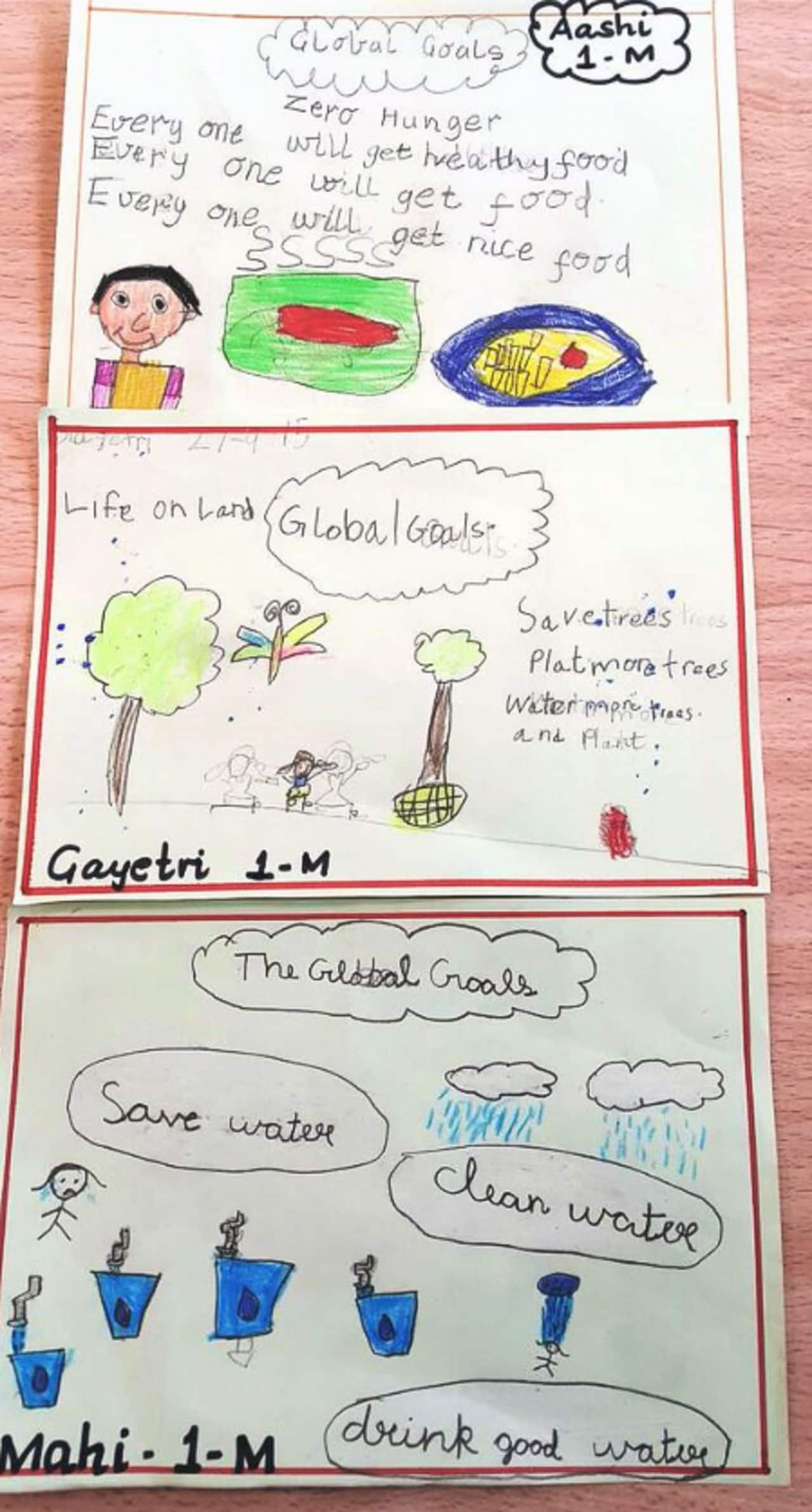 A kids drawing about The Global Goals