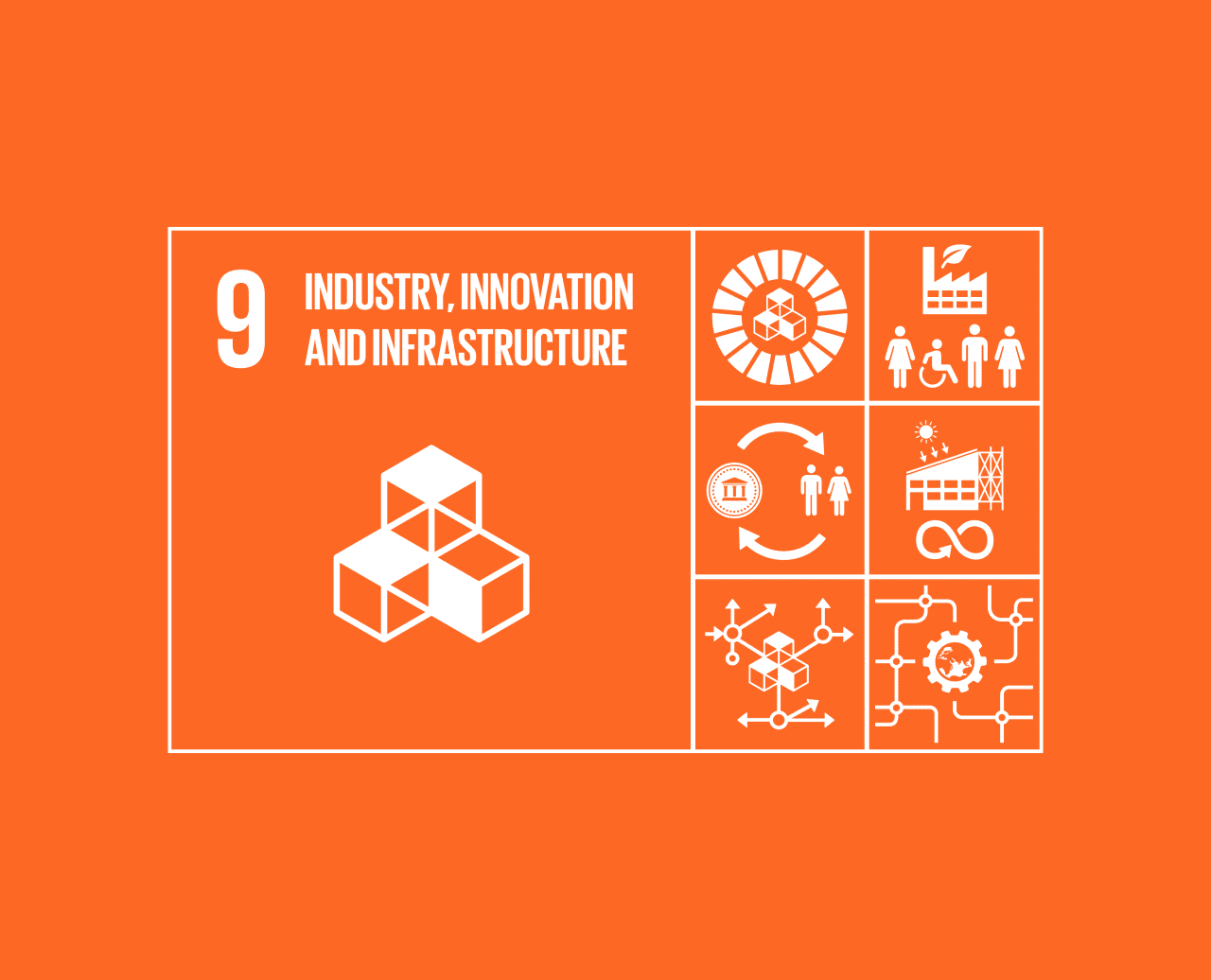 Goal 9: Industry, Innovation and Infrastructure | The Global Goals for Innovation Icon Png  45gtk