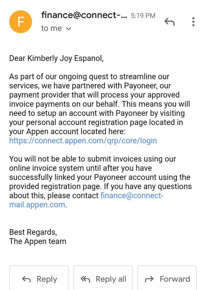 appen connect account