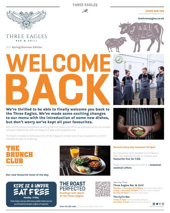main menu newspaper