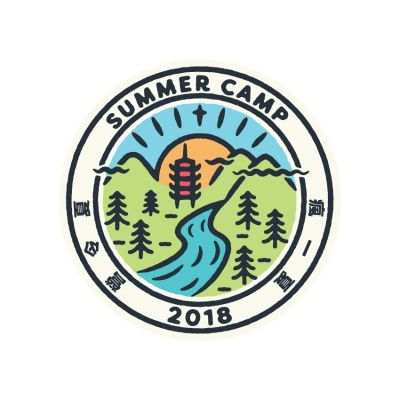 Summer in Taiwan: Summer Camp logo badge design