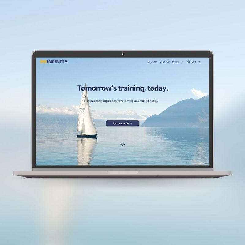 Infinity English Tutoring Website Design & Development