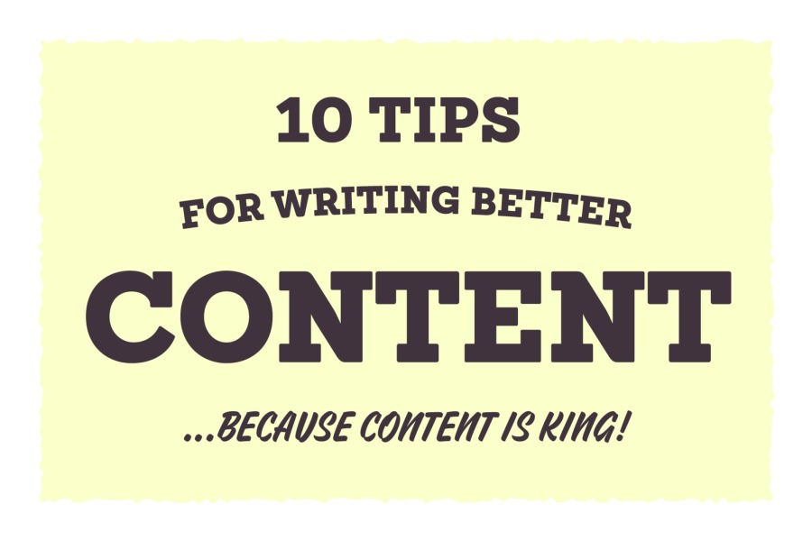 10 Tips for Writing Good Content for Your Website