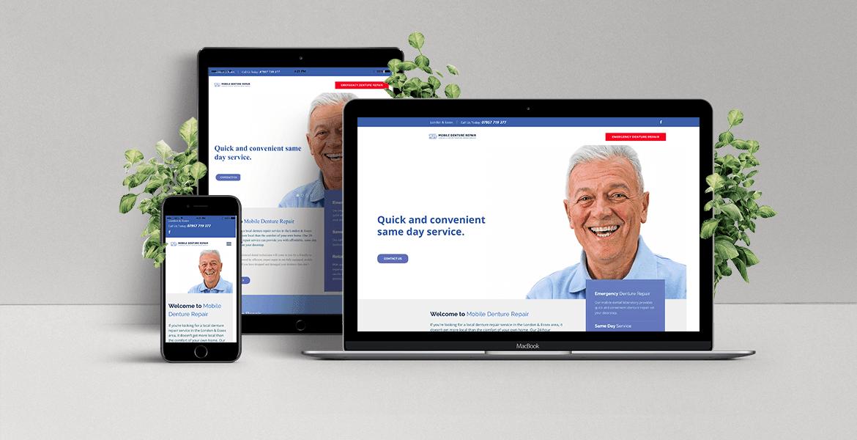 Mobile Denture Repair website mock-up