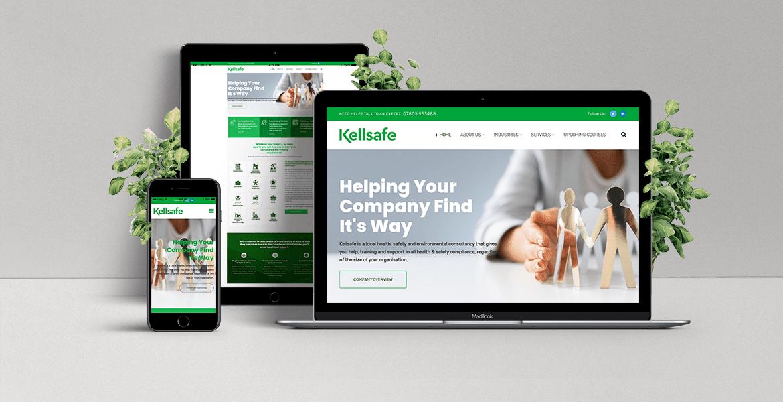 Kellsafe website mock-up