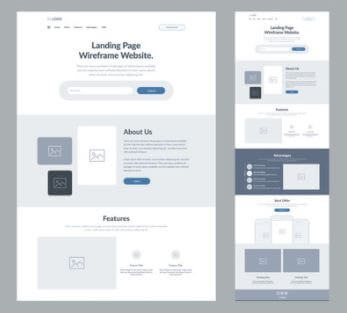 Small business web design one page website