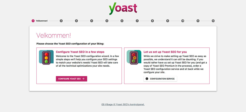 Kontrolpanel: Guide til Yoast SEO plugin