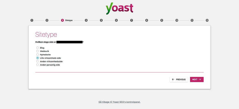 Guide til Yoast SEO plugin til WordPress: Wizard step 3