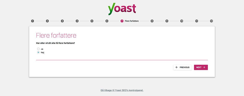 Guide til Yoast SEO plugin til WordPress: Wizard step 7