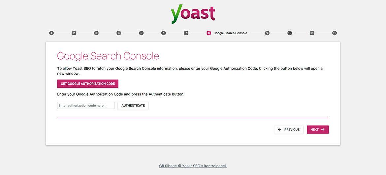 Guide til Yoast SEO plugin til WordPress: Wizard step 8