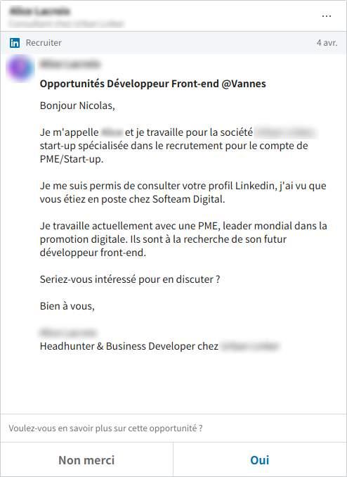 Contact via Linkedin