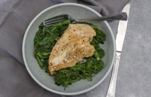 Dijon Chicken with broccolini