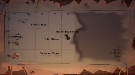Molten Sands Fortress map location