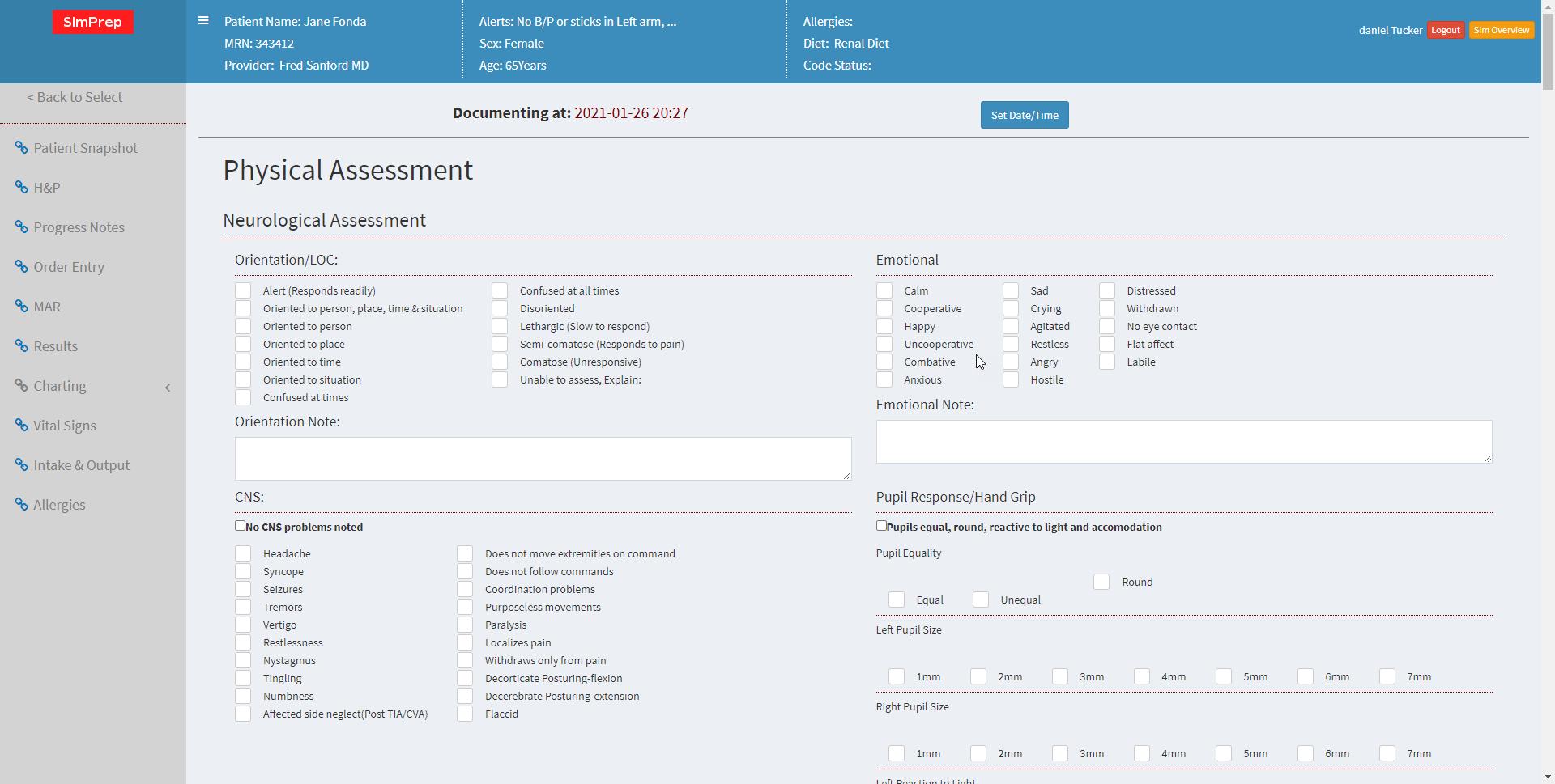 SimPrep nursing simulation software
