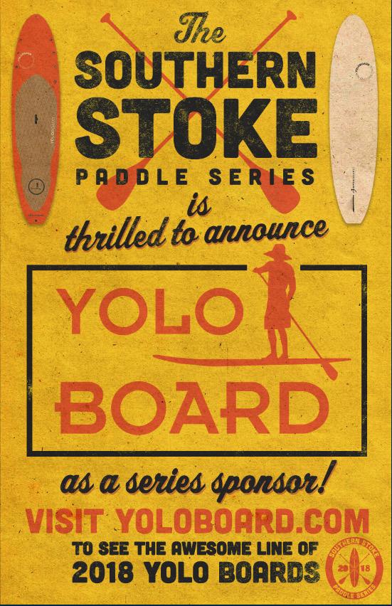 Yolo Board is 2018 Southern Stoke Paddle Series Sponsor