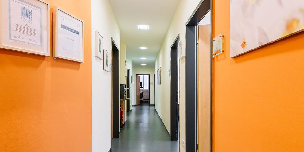 Praxisflur Dr Beck Hausarzt Rothenburg an der Laaber