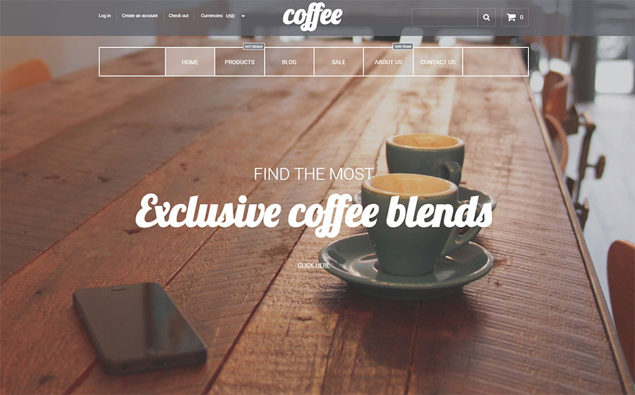 Coffee House Shopify Theme
