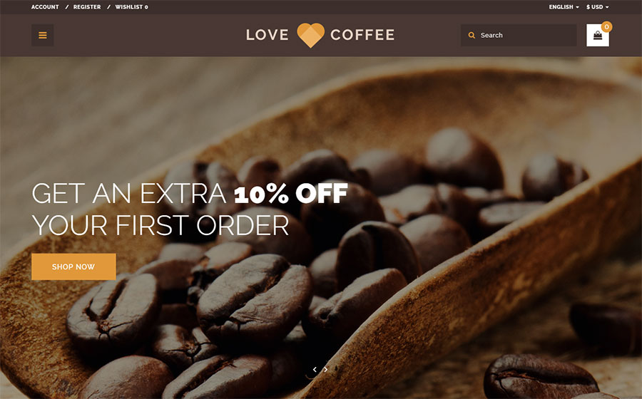 Coffee House OpenCart Template