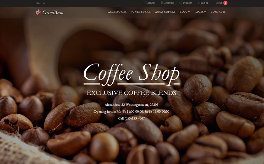 GrindBean - Coffee Shop WooCommerce Theme