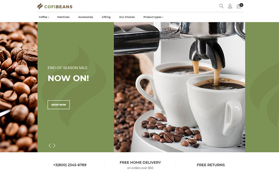 CofiBeans - AMP Coffee Shop Magento Theme