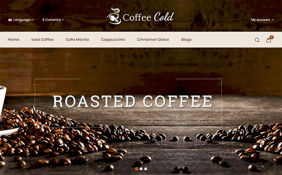 Cold - Coffee Shop OpenCart Template