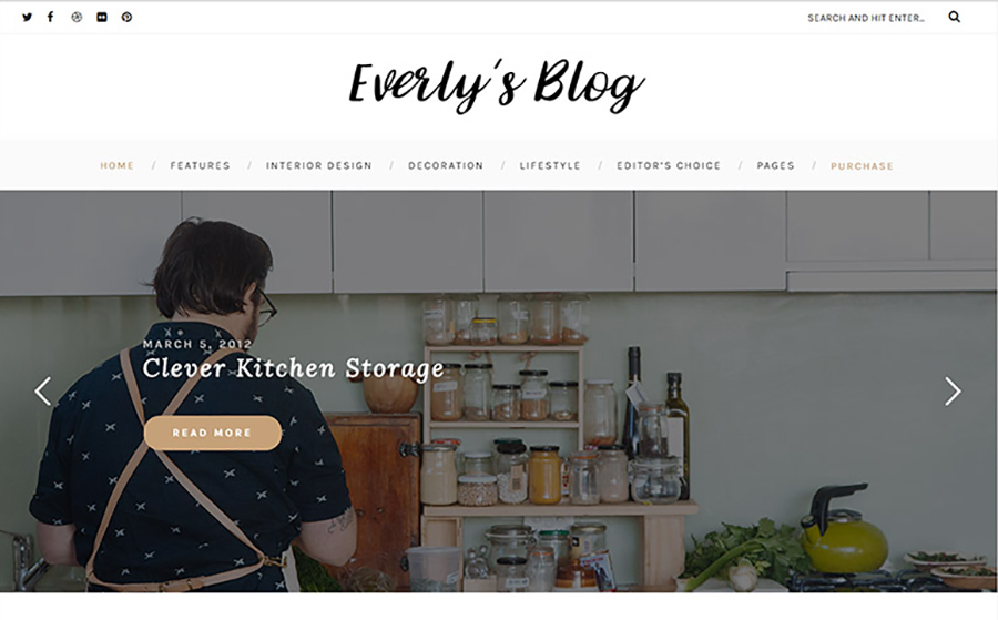 Everly - Hipster Blogging WordPress Theme