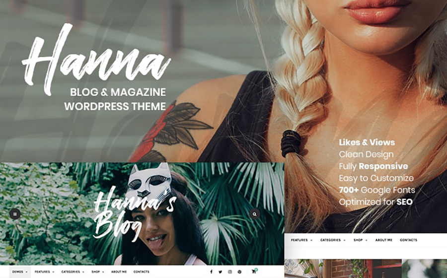 Hanna - A Beautiful Blog & Magazine WordPress Theme