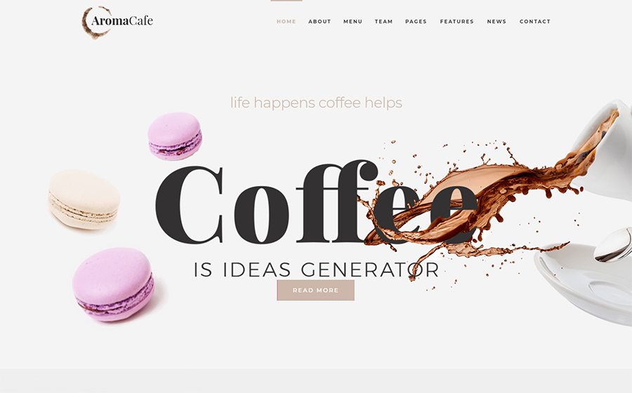 Aromacafe - Coffee Shop Elementor WordPress Theme