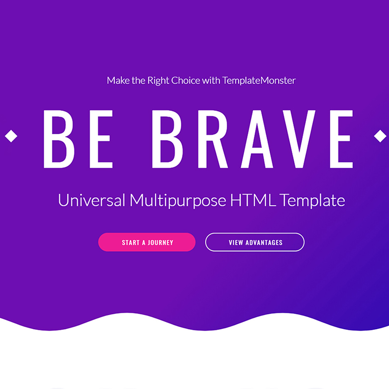 Brave Responsive Multipurpose Website Template
