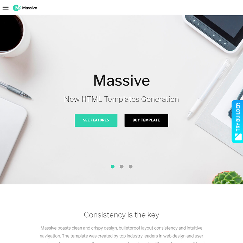 Massive - StartUp Company Website Template