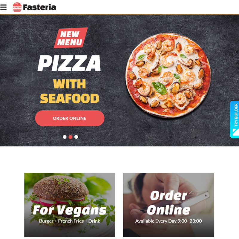 Fasteria - Fast Food Website Templates