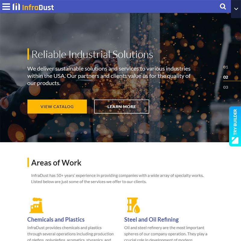 Infradust - engineering website templates